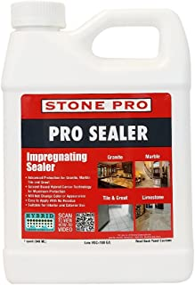 Stone Pro Pro Sealer - Impregnating Sealer for Granite, Marble, Tile and Grout - 1 Quart