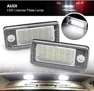 Audi Led License Number Light - Nslumo LED License Plate Lamp Number Light for Audi A3 S3 A4 S4 A6 C6 S6 A8 S8(d3) Q7 Rs4 Rs6 18smd 2pcs/set with Canbus