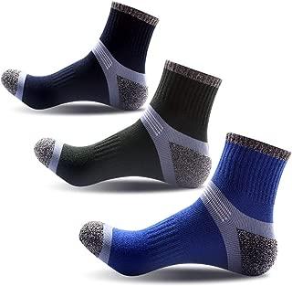Compression Knee High Socks,Cotton Cushioned Crew Socks,Athletic Low Cut Socks For Men & Women …