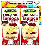 Let's Do Organic Tapioca Granules Bundle. Includes Two (2) 6oz Packages of Let's Do Organic Tapioca Granules and a Tapioca Recipe Card from Carefree Caribou! All Natural, Gluten Free & Vegan!