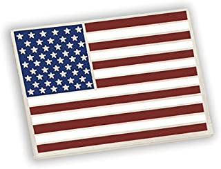 American Flag Lapel Pin Proudly Made in USA- Silver Plated Rectangle Bulk (5 Pins)