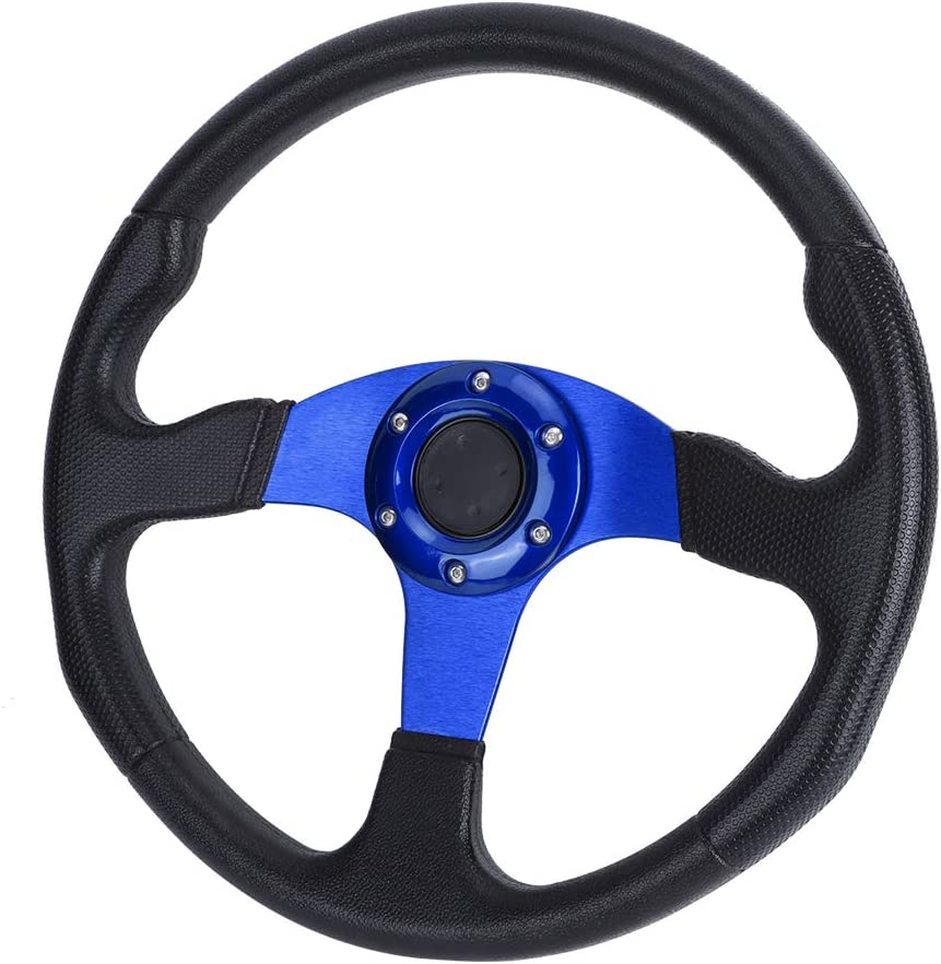 Steering Wheel,350mm//14in Racing Car Sport Steering Wheel Deep Dish 6 Bolts Universal Modified Accessory black