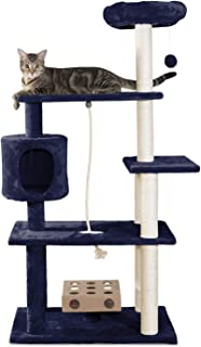 Furhaven Pet Cat Tree | Tiger Tough Cat Tree House Condo Perch Entertainment Playground..
