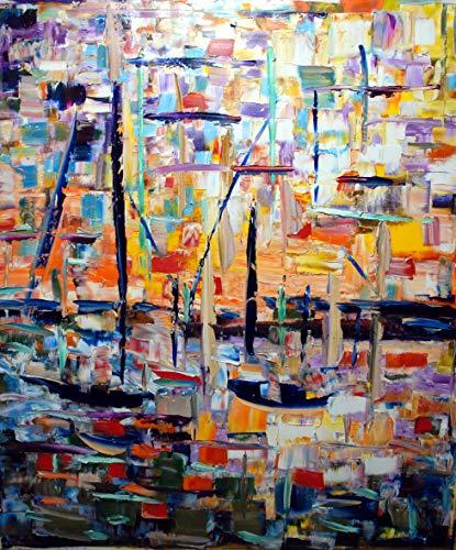 Magia del tramonto olio su tela 160x135cm Handgemalte Leinwand Ölgemälde Impressionist Abstrakte Ölgemälde Wandkunst Gemälde Auf Leinwand Größe Für Cafe Wohnzimmer Wohnkultur