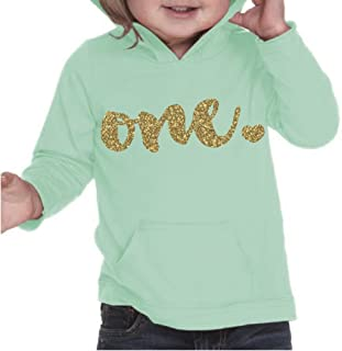 Girl First Birthday Shirt, First Birthday Outfit, One Year Old Outfit (18 Months, Ice Green)