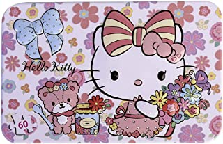 SNUUR-ZH Hello Kitty 60 Pieces Puzzles for Kids Jigsaw Puzzles in a Iron Box Cartoon Animal Puzzles,Birthday Gift for Girls, Learning Toys