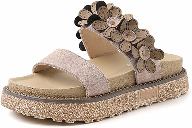 24XOmx55S99 Women's Summer Non-Slip Platform Casual Sandals Slippers