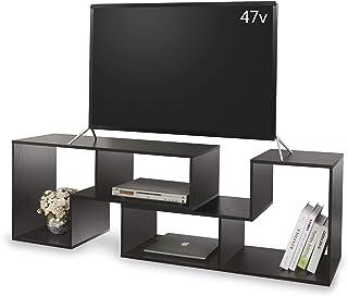 DEVAISE テレビ台 テレビラック テレビボード ローボード 伸縮 幅1050~2100mm 65インチまで対応 コーナー 収納ラック 2点セット簡単組立 ブラック 木目 ORADSG602HF※ 通常1~2日以内に発送します※