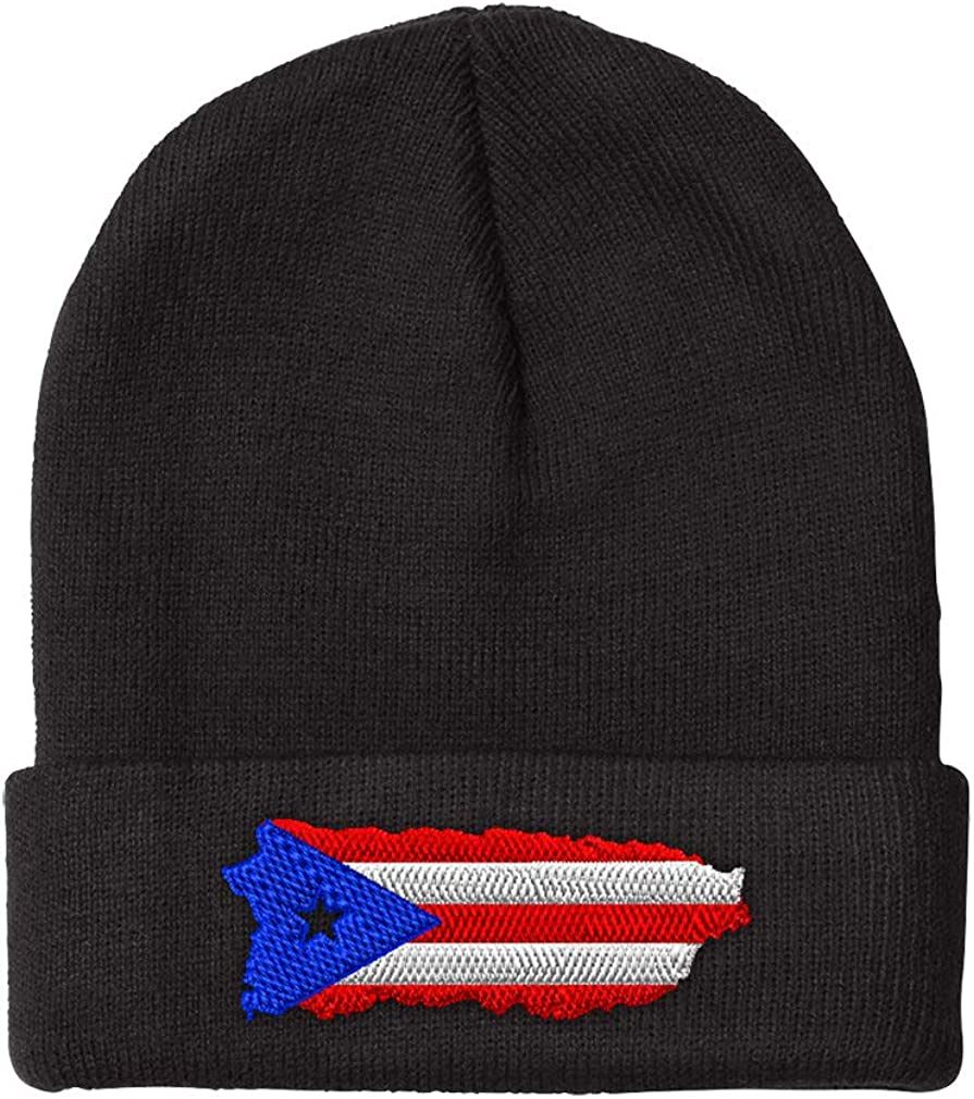 Beanies for Men Puerto Rico Map Winter Hats Embroidery Luxury Wome supreme Flag