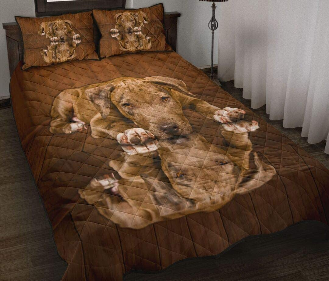 Personalized Pit-Bull Dog Shadow Style Quilt Phoenix Mall Wife to Dad Super-cheap My Mom