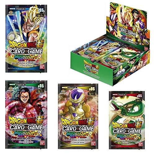 Dragon Ball Super Card Game – Booster di 12 carte Serie 5 Miraculous Revival – Versione francese