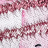 """Children's Day Sequin Reversible Pillowcases Changes Color Pink Mermaid Princess Cushion Cover Funny Kid's Magic Toy Home Decor for Couch Sofa Bed Porch Garden Wedding Party Christmas 1PCS 16""""x 16"""""""
