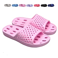 209204af075 XUANHSU Shower Shoes for Mens and Womens Bathroom Slippers No .