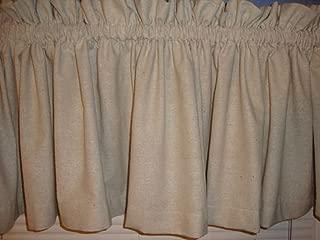 Primitive Country Homespun Muslin Valance Window Treatment Curtain