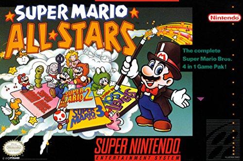 Pyramid America Super Mario All Stars Super Nintendo NES Game Series Box Art Yoshi Luigi Princess Cool Wall Decor Art Print Poster 12x18