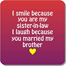 Family Shoping Birthday Gifts for Bhabhi Funny Teasing Sister in Law Fridge Magnet Home Kitchen Office Décor