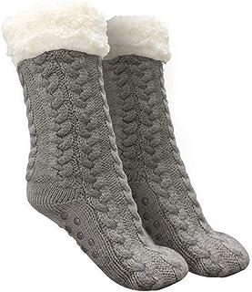 Greetuny, Calcetines termicos para mujer para Clima frio Felpa gruesa Antideslizantes Slipper socks Invierno largos Calcetines de punto para casa