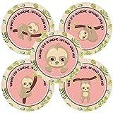 Adorebynat Party Decorations - EU La pereza animal le agradece etiqueta engomada - Cumpleaños Baby Shower partido de las niñas en rosa - Set 30