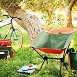 ALPHA CAMP Camping Chair Children Portable Ultralight Compact Folding Camping Backpack Chair with Carry Bag Heavy Duty 225lb Capacity Lightweight Kids Folding Chair for Outdoors, Camping, Orange