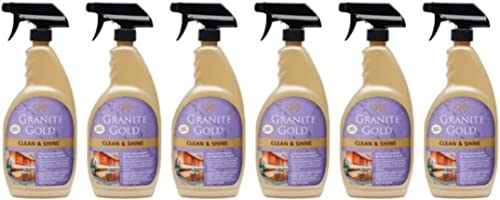 popular Pack of 6 - Granite wholesale Gold 2021 Clean & Shine, 24 Ounce outlet online sale