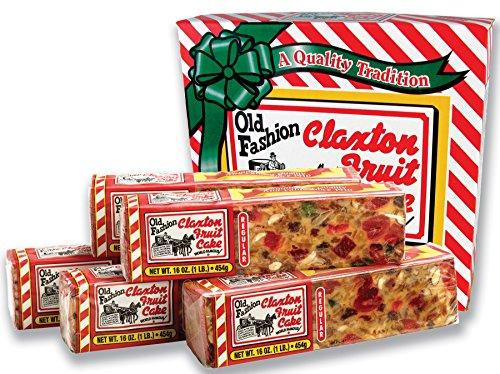 Claxton Fruitcake 5lbs Classic Flavor, Fine Fruits and Nuts, Sweet Raisins, Pineapple,Cherries, Walnuts, Almonds, Lemon & Orange Peel, Rich Pound Cake