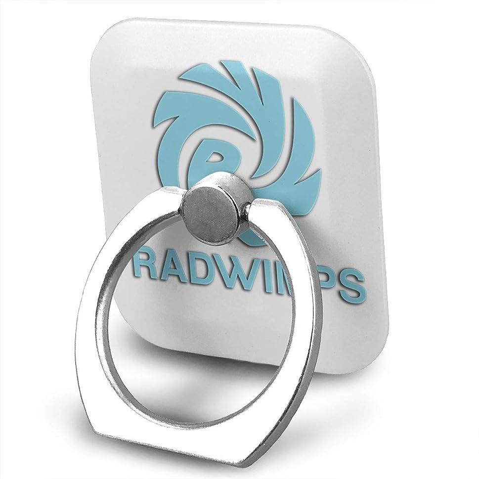 写真を描くアルコーブセラーラドウィンプ Radwimps ロゴ スマホ リング ホールドリング 指輪リング スクエアス 薄型 おしゃれ スタンド機能 落下防止 360度回転 タブレット/スマホ IPhone/Android各種他対応