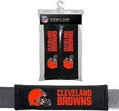 Fremont Die NFL Cleveland Browns Seat Belt PadSeat Belt Pads, Black, One Size