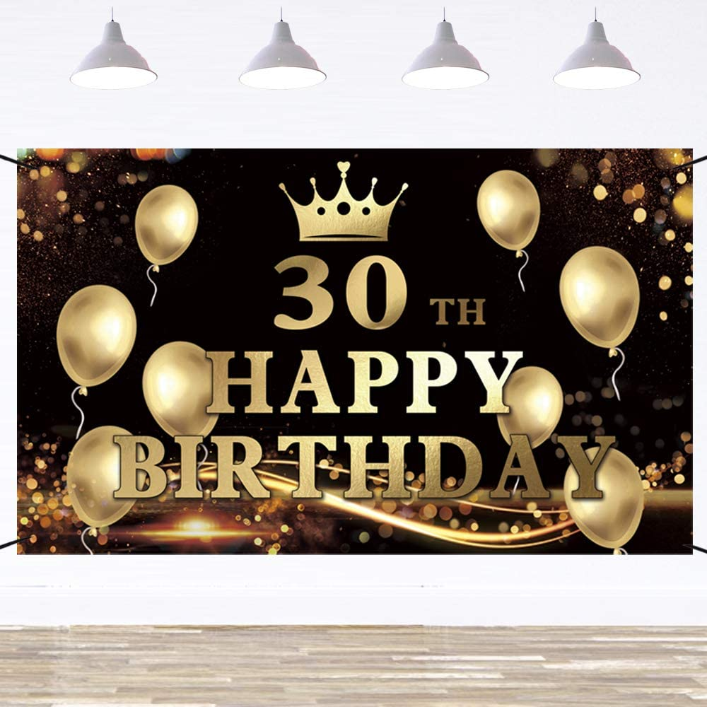 Ushinemi Happy 30th Birthday Max 88% OFF 30 Party Backdrop Special price for a limited time Banner