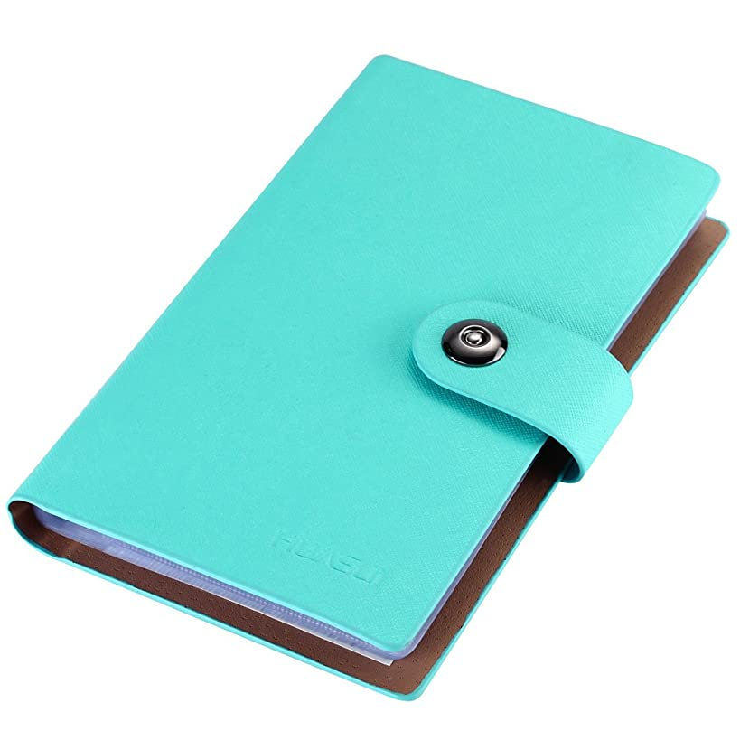 Business Card Holder Book PU Leather 300 Name Cards Organizer (Blue)
