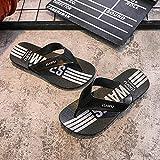 B/H Interior al Aire Libre Verano Zapatillas,Chanclas Antideslizantes con Plataforma de baño, Chanclas de Gran tamaño y Zapatos de Playa-Negro_42