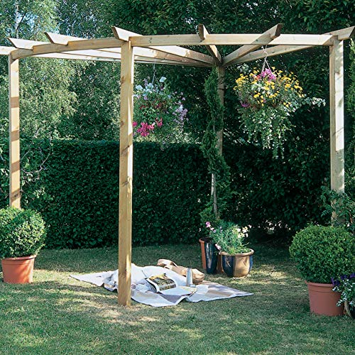 Forest Garden Forest Radial Pergola 90°, Pressure Treated, 8' x 9'