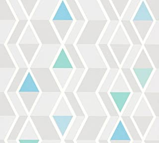 A.S. Création Non-Woven Wallpaper Happy Spring 10.05 m x 0.53 m Blue Gray Green Made in Germany 343021 34302-1