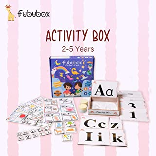 Fububox Activity Box for Kids of 2 Year Old Baby ,Learning and Education-Reading & Writing, 3 Engaging and Fun Activities ...