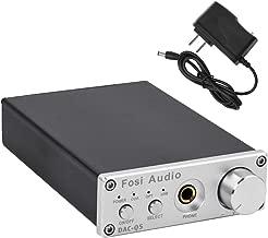 DAC Decoder - 24-bit/192kHz Optical/Coaxial/USB to RCA/Headphone & Digital-to-Analog Converter, Headphone Amplifier Mini Stereo Preamplifier - Fosi Audio Q5 (Silver)