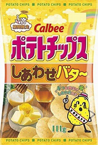 カルビー ポテトチップス しあわせバター 111g×3袋