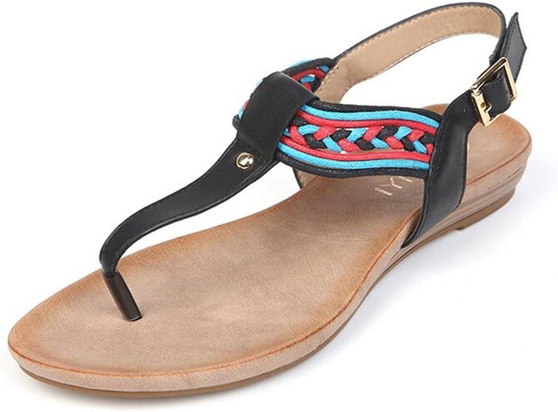 Exing Sautope da Donna nuovo Summer Ftutti Flip-Flop Sealo con Fondo Piatto Seali Stile Etnico Casual Beach Sautope comode