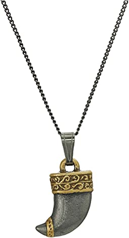 "Tiger's Claw 18"" Adjustable Necklace Two-Tone"