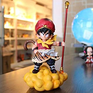 LF-YGJ Estatua Anime Anime Dragon Journey Goku Infancia Salto Mortal Nube Rosa Azul Rojo PVC acción muñeca Juguete Regalo