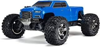 ARRMA Big Rock Crew Cab 4x4 RC Monster Truck 3S BLX 4WD RTR with 2.4GHz Radio (Battery Not Included) 1:10 Scale, Blue