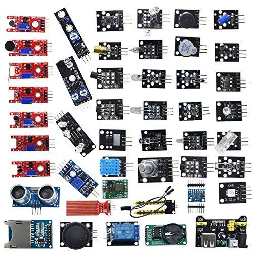 LiuliuBull L Für Arduino 45 in 1 Sensoren Module Starter Kit Besser als 37in1 Sensorkit 37 in 1 Sensor Kit (Color : 45 IN 1)
