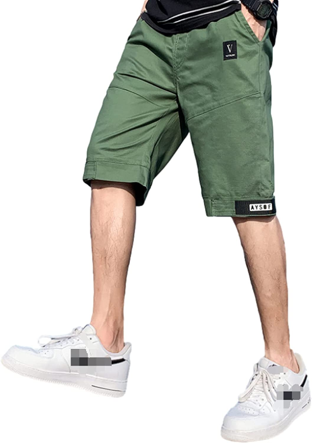 Men's Casual Straight Shorts Fashion Loose Comfortable All-Match Stitching Plus
