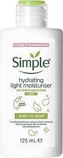 Simple Kind To Skin Hydrating Light Moisturiser, Moisturiser For Sensitive Skin No Added Perfume, No Harsh Chemicals, No A...