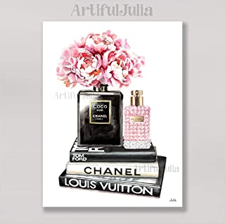 Chanel poster art print of watercolor painting, (NO FRAME),5