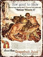 Victory Vitamina C 金属板ブリキ看板警告サイン注意サイン表示パネル情報サイン金属安全サイン