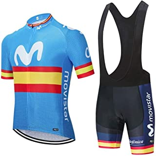 ADKE Hombre Conjunto Ropa de Ciclismo para Verano, Maillot M