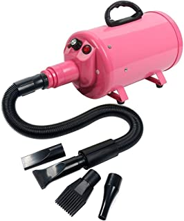 CMmin Secador de pelo, suministros for mascotas 2800w Secador de pelo profesional for mascotas con manguera: un secador de perro potente pero silencioso con secador de pelo de velocidad variable for a