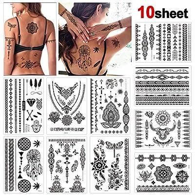 Konsait Tattoo Aufkleber schwarzer