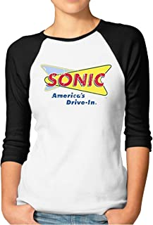 Straight Into Sonic America/'s Drive-In Fast Food Fan Distressed Style T Shirt