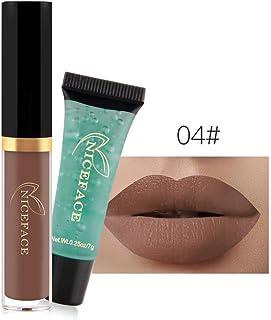 24 Colores Profesional Pintalabios Mate Labial de Maquillaje Larga Duracion Gel limpiador para Niñas por ESAILQ F