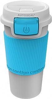 Premier Housewares Contigo Morgan Autoseal Travel Mug, 360 ml - White/Ocean